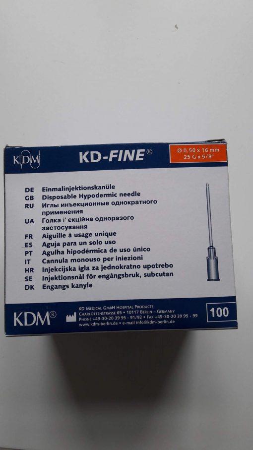 Aiguille KDM 25G5/8 BL 0,50x16mm Orange