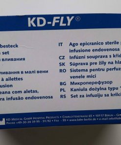 Aiguille à ailettes KDM 21G3/4 (0,80x19mm) 30 cm Vert