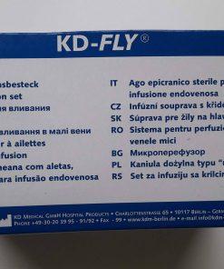 Aiguille à ailettes KDM 23G3/4 (0,60x19mm) 30 cm Bleu