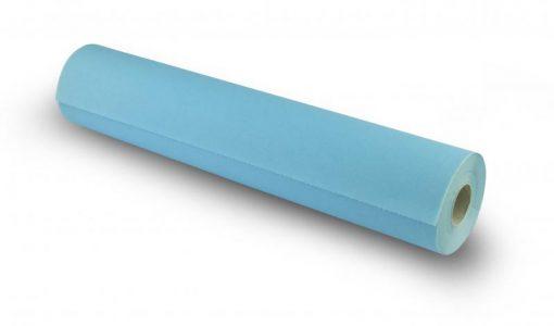 Rouleau d'examen 68m x 50 cm bleu plastifié